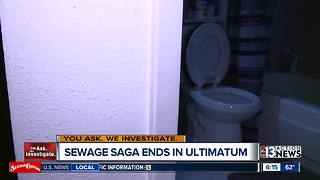 Rental home sewage saga ends in ultimatum for Las Vegas family - Video