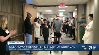 Oklahoma firefighter's story of survival