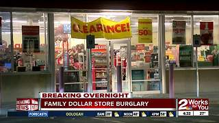 Burglars hit a North Tulsa Family Dollar Store