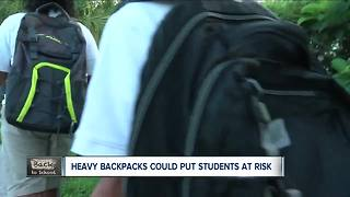 beware of the backpack blues, experts warn heavy backpacks could lead to injuries