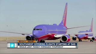 Southwest Airlines 72-hour sale offers round trips for under $100 - Video