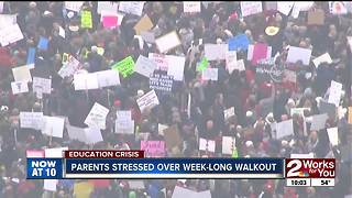 Parents getting stressed out over week-long walkout