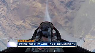 Reporter Karen Lehr takes flight with U.S.A.F. Thunderbirds - Video