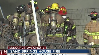 Firefighter Injured, Six Dogs Killed In Sand Springs House FIre - Video