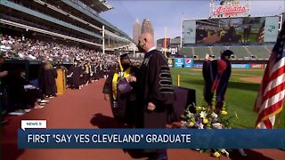 First 'Say Yes Cleveland' student graduates from college