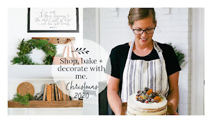 SHOP BAKE AND DECORATE WITH ME | Christmas 2020