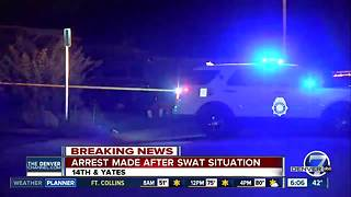 Man arrested after hours-long standoff near Sloan Lake - Video