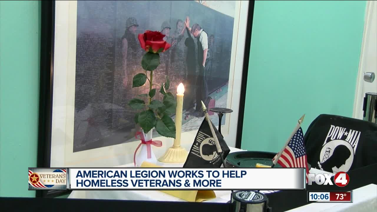 American Legion works to help homeless veterans and more