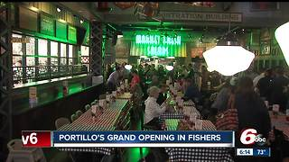 Portillo's opens in Fishers - Video