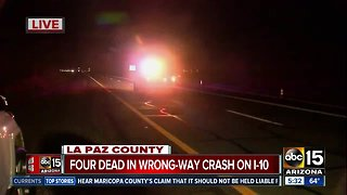 Deadly wrong-way crash shuts down portion of I-10