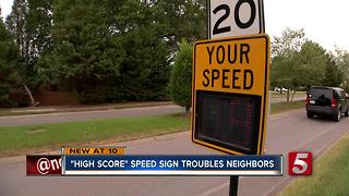 Speed Sign Turned Into Competition - Video