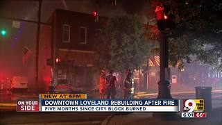 Downtown Loveland rebuilding after fire - Video