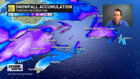 Heavy snow, powerful winds and storm surge all on tap as system pushes into Atlantic Canada