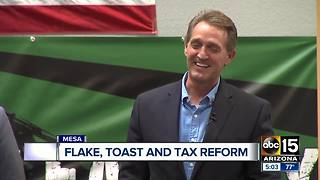 Senator Flake's comments on President Trump have gone national - Video