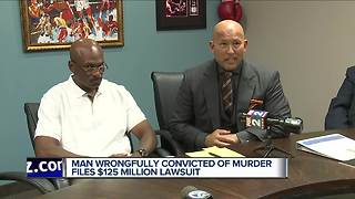 Man wrongfully convicted of murder files $125 million lawsuit - Video
