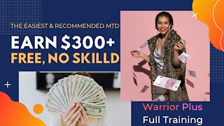 How To Make 300 Dollars A Day, Warrior Plus Tutorial, Affiliate Marketing, Free Traffic