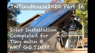Tiny Cabin Build: Pt. 16 - How To Install Off Grid Solar - Solar Install For Our Tiny Cabin Build
