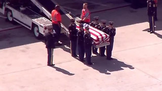 "Remains of World War II soldier Richard ""Tiny"" Sowell returned home - Video"