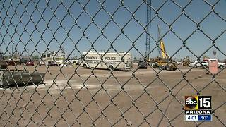 Toppled drilling rig near Sky Harbor is now a recovery operation - Video