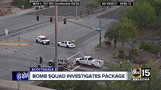 Suspicious package investigated on Loop 101/Scottsdale - Video