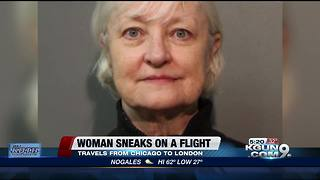 Woman sneaks onto flight from Chicago to London - Video