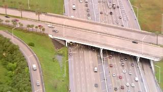 CHOPPER 5: Semi crashes on I-95 southbound in West Palm Beach - Video