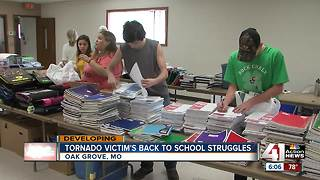School supply drive helps Oak Grove tornado victims - Video