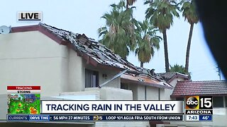 Morning light unveils damage around the Valley