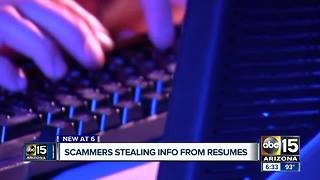 Fraudsters stealing info from resumes - Video