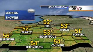 Showers early Thursday. Dry Weekend. - Video
