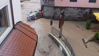 Residents Evacuated as Heavy Rain Causes Flooding in Northern Italian Town of Moena - Video