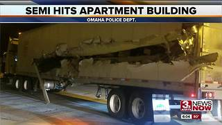 Semi truck hits apartment building on Pacific Street - Video
