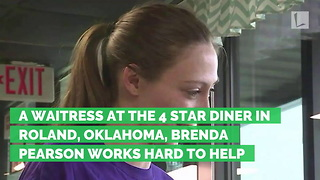 Waitress Looks Down at Truck Driver's Receipts, Realizes He's Left $2,000 Tip - Video