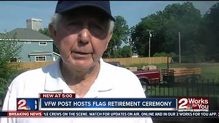 Tulsa VFW hosts flag retirement ceremonies - Video