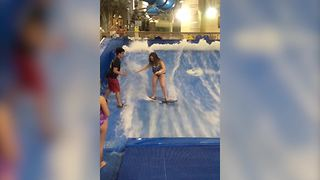 Wave Pool Surfing Fail - Video