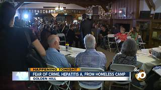 Fear of crime, Hepatitis A from homeless camp - Video