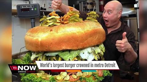 World's largest burger crowned in metro Detroit
