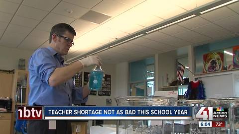 Despite teacher shortages nationwide, many KC area districts fully staffed or close to it