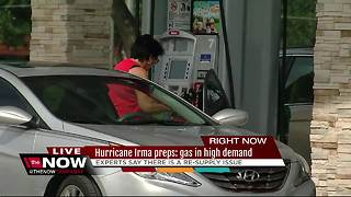 Gas in high demand for Floridians as Hurricane Irma nears - Video