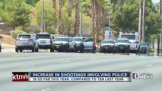 Increase in shootings involving Metro Police - Video