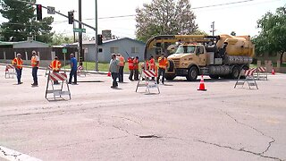 Crews look to repair sinkhole at intersection of Fairfax Road and College Avenue