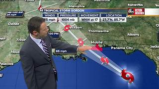 Tracking the Tropics | Tropical Storm Gordon brings hurricane warning to Gulf Coast | Sept. 4 - Video