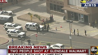 Police: Two people shot at Walmart in Glendale - Video