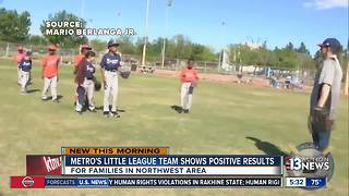 Las Vegas police Little League team shows positive results - Video