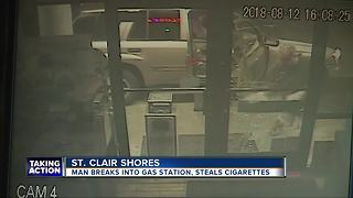 Man breaks into gas station, steals cigarettes