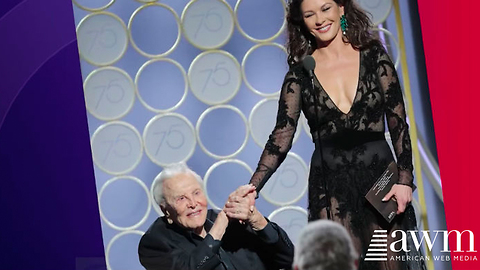 Kirk Douglas, 101, Took Stage At Golden Globe Awards, Brings Entire Audience To Their Feet