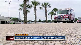 Local fire crews learned valuable lessons responding to patients during Hurricane Florence