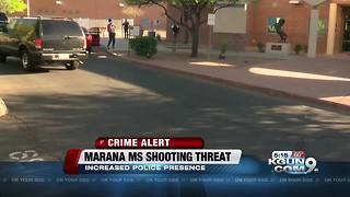 Police increase presence at Marana Middle School in response to threat - Video