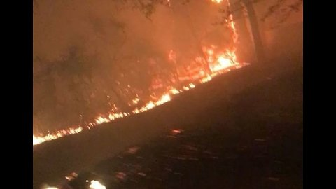 Camp Fire Encroaches on Roadways near Paradise