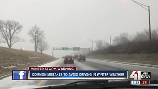 Common mistakes to avoid driving in winter weather